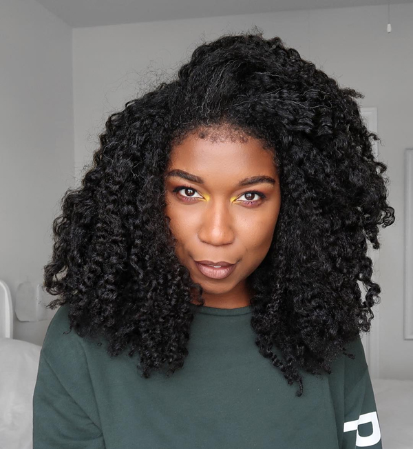kinky coily type 4 curly hair
