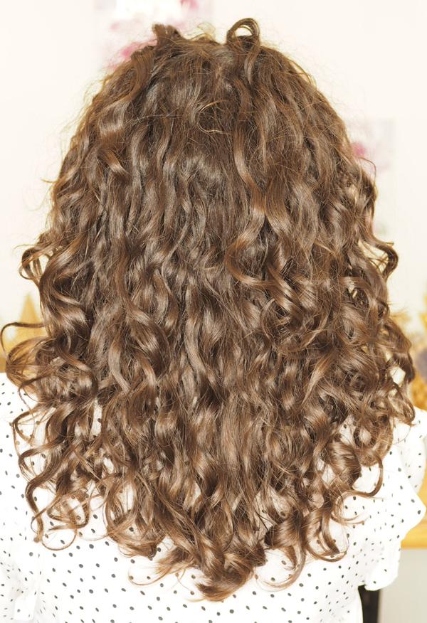 Gabriella 10 months following the curly girl method