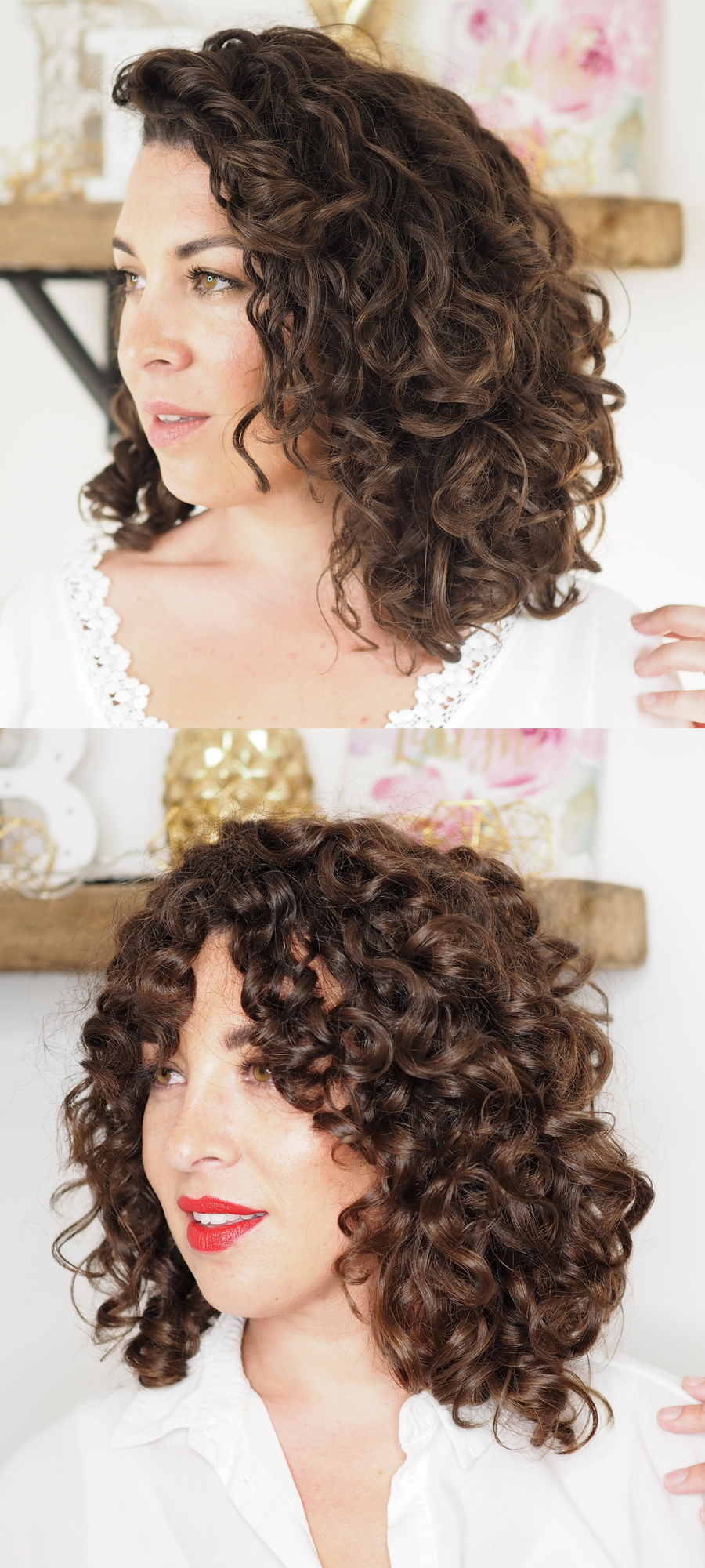 DIY curly cut for shape and volume