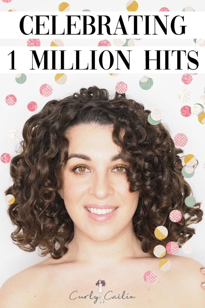 celebrating 1 million hits curly cailin