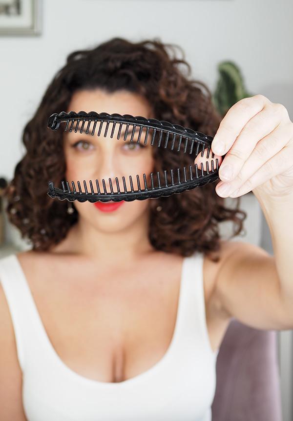 banana clip for curly hair