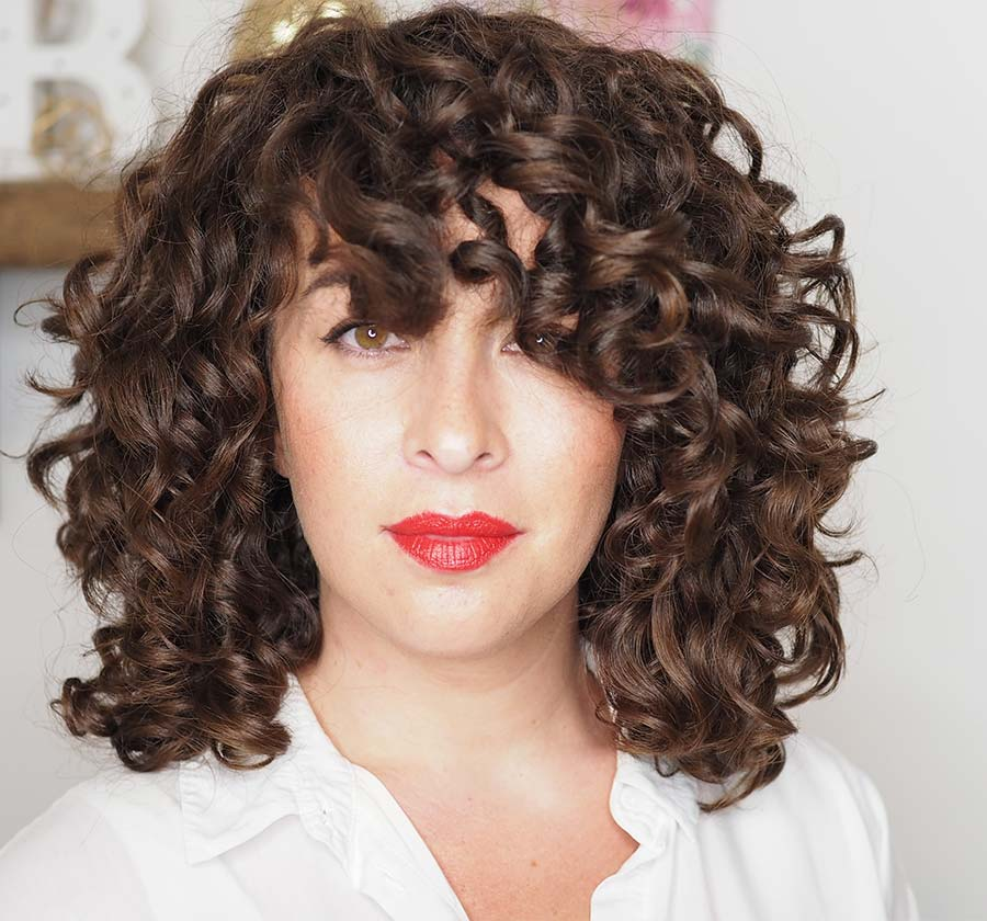 diy cut for shape and volume curly cailin after