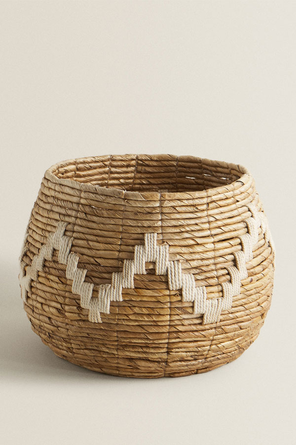 zara home zigzag weave basket