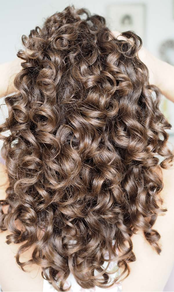 Soft hydrated curl clumps