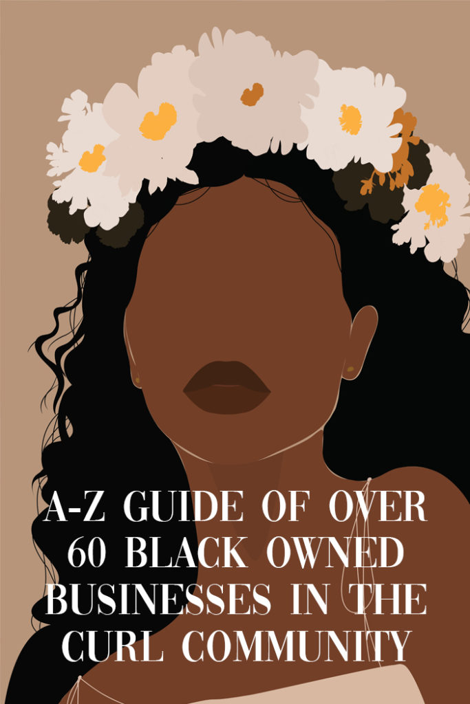 over 60 black owned businesses in the curl community