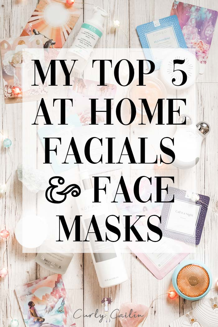 at home facials and face masks 2020