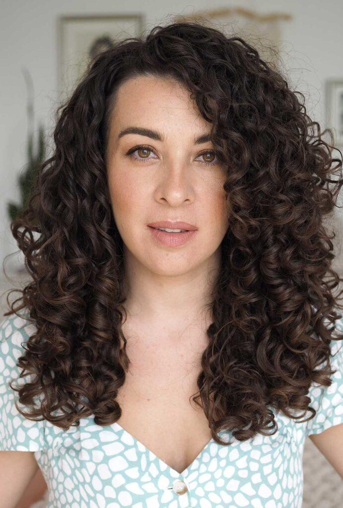 natural dark brown curly hair curly cailin