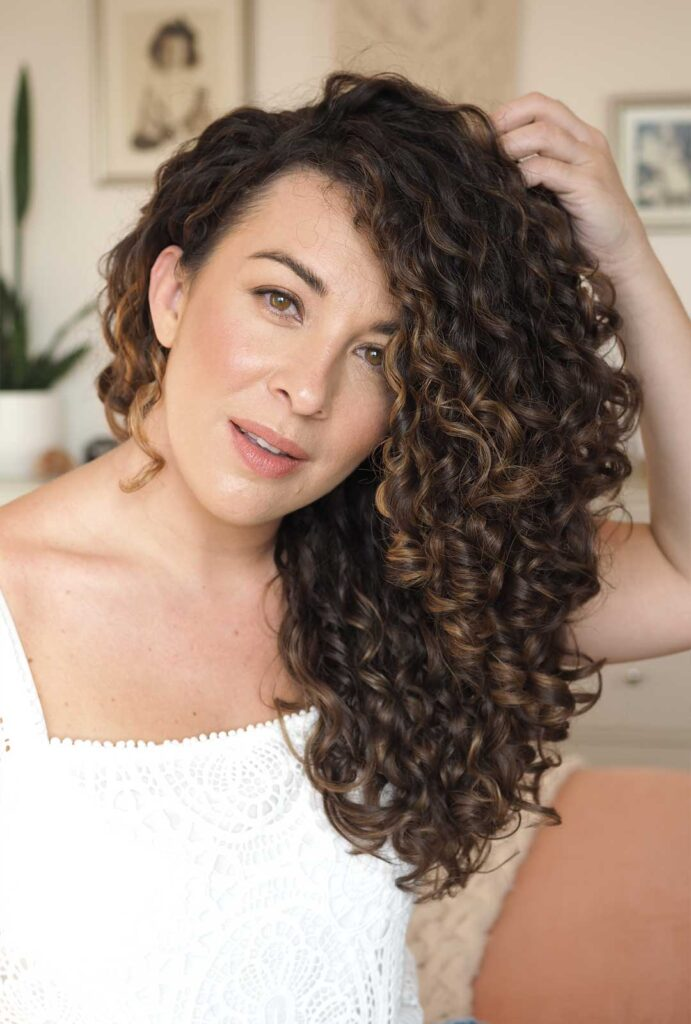 curly cailin styling routine