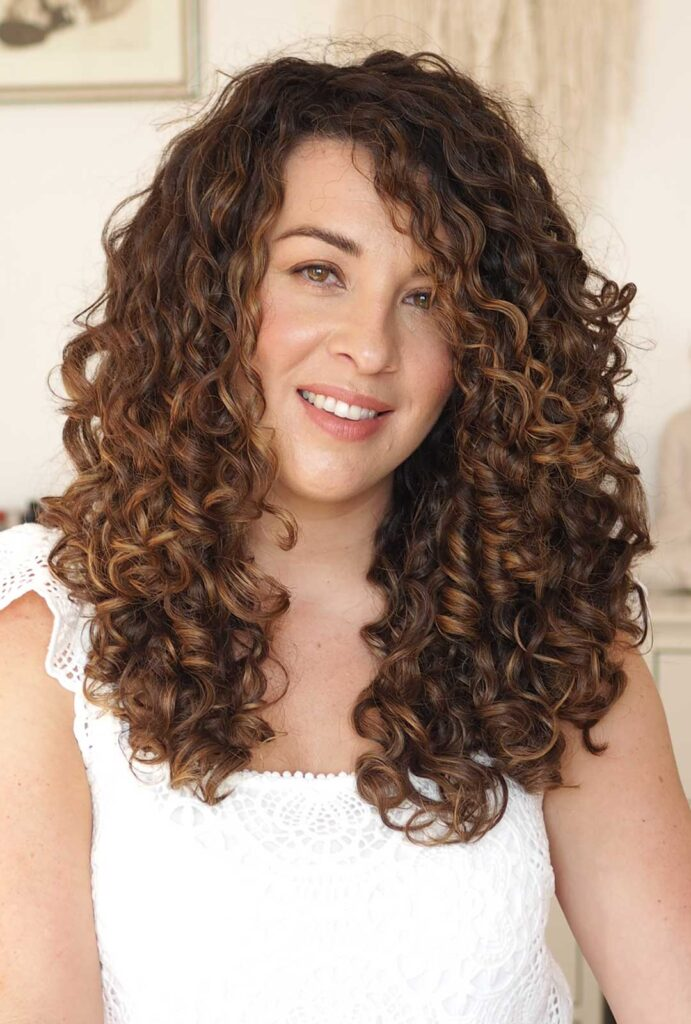 curly hair styling routine
