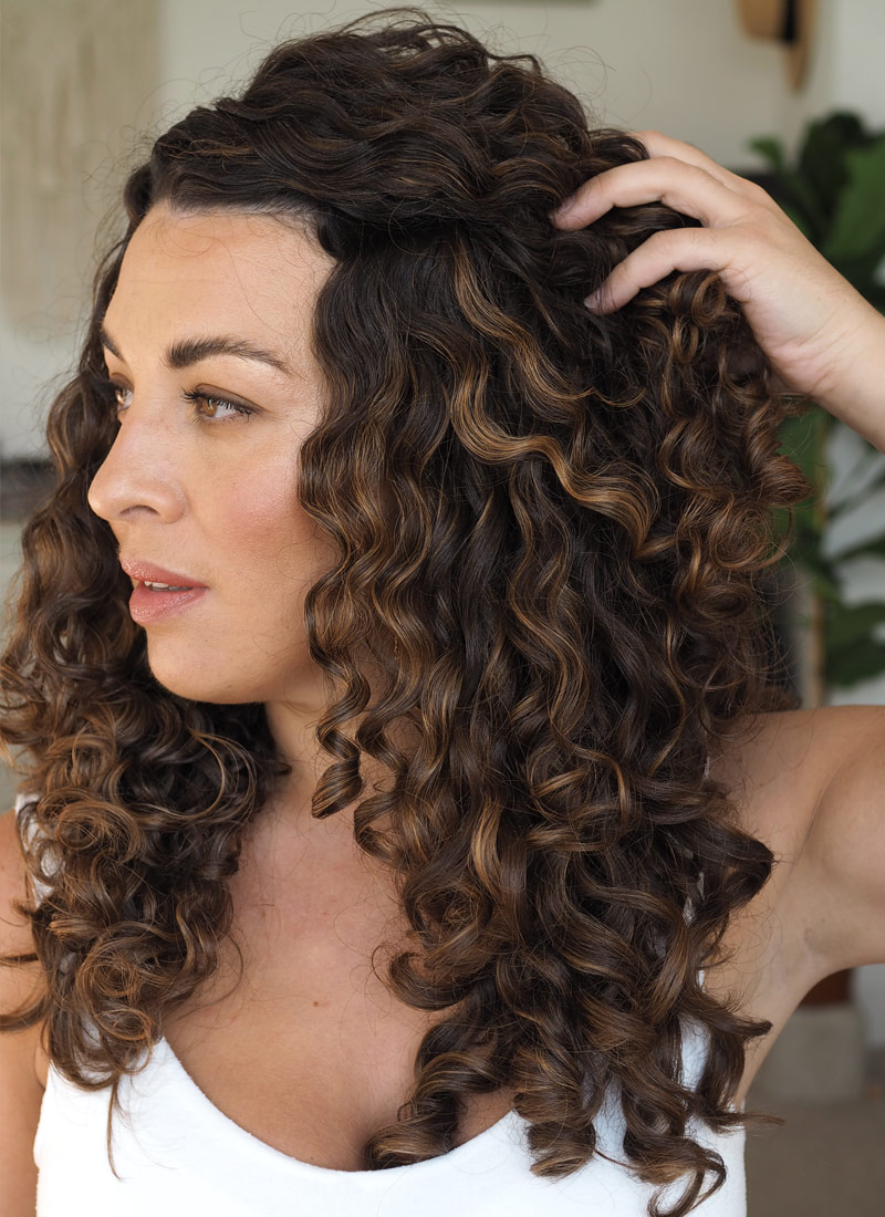 curly hair custard for curl clumps