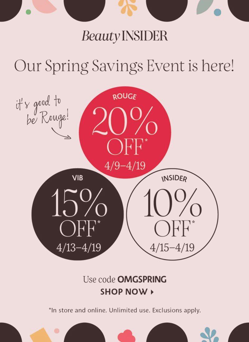 Sephora Spring Savings Event Guide