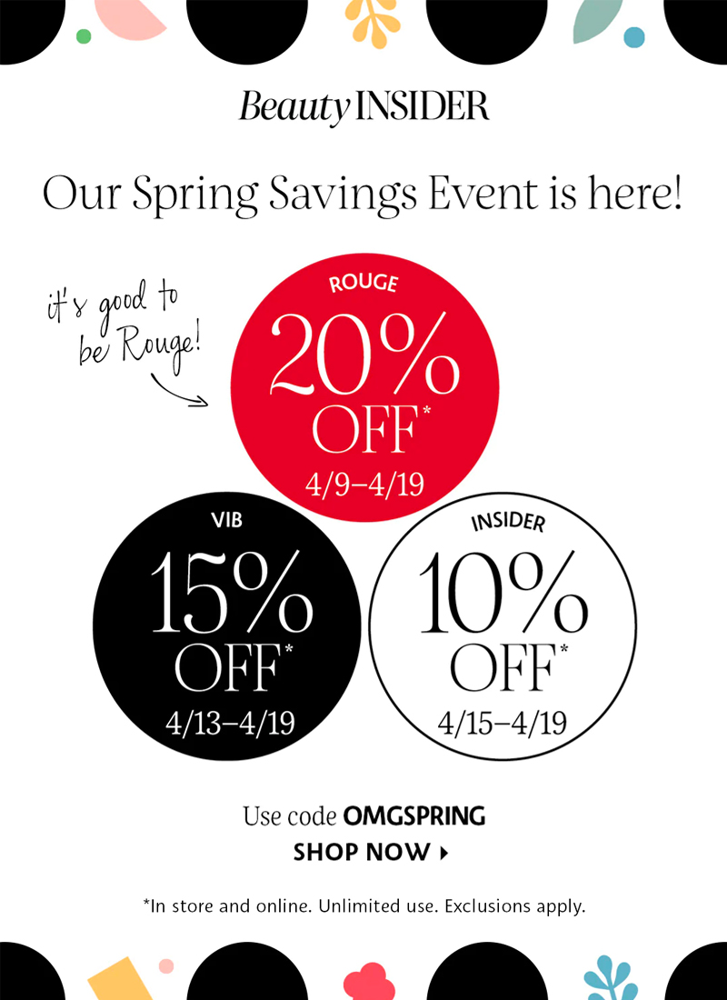 Sephora Spring Savings Event Guide