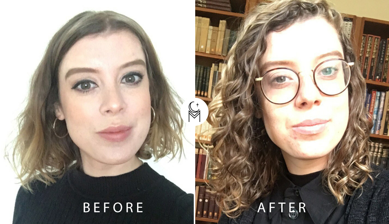 curl clinic before and after