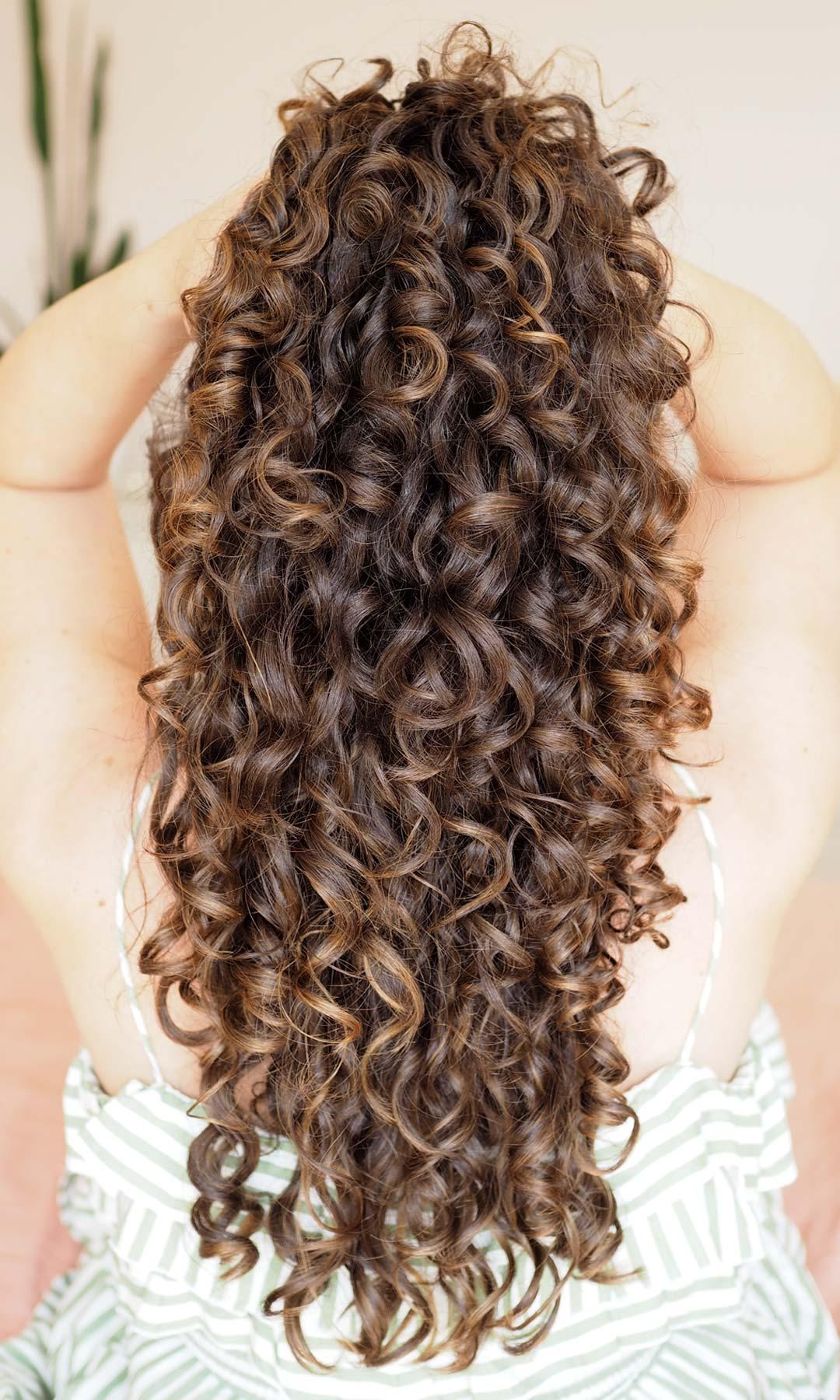 type 3 long curly hair